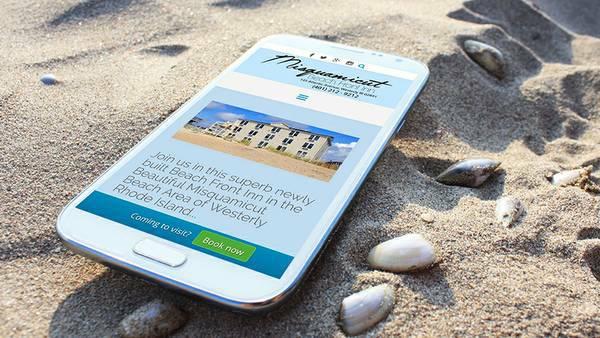 Misquamicut Beach Front Inn Mobile Design